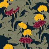 抽象高雅样式有花卉背景 库存图片