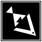 抽象鱼徽标 免版税库存照片