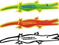 抽象鳄鱼 向量例证