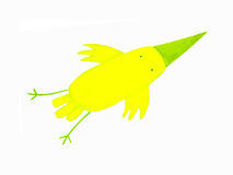 抽象鸟黄色 免版税库存图片