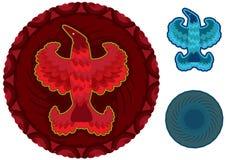 抽象鸟eps眼睛俄国星形样式 库存图片