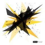 抽象黄色几何三角现代背景 抽象展开 库存图片
