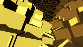 抽象黄色和棕色背景 免版税库存照片