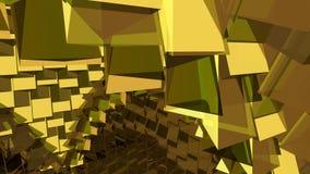 抽象黄色和棕色背景 免版税库存图片
