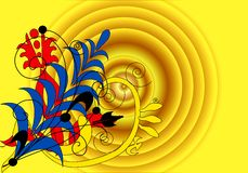 抽象黄色 向量例证