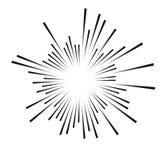 抽象黑光芒 向量例证