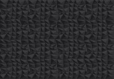 抽象黑多角形样式背景纹理传染媒介 图库摄影