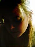 抽象黑暗的女孩 库存图片