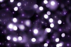 抽象黑暗的紫罗兰色bokeh背景 图库摄影