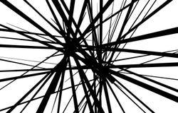 抽象黑白线背景 皇族释放例证