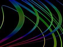 抽象黑色五颜六色的漩涡 免版税图库摄影