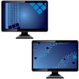 抽象黑色显示器屏幕 免版税库存照片
