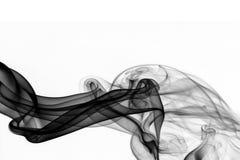抽象黑色烟 库存图片