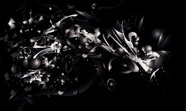 抽象黑色白色