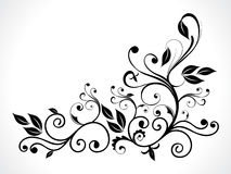 抽象黑色花卉 免版税图库摄影