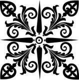 抽象黑色设计正方形 库存例证