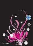 抽象黑色设计花卉质朴的粉红色 免版税库存图片