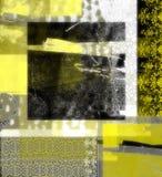 抽象黑色黄色 免版税库存照片