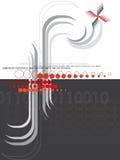 抽象黑色f半音红色 库存例证