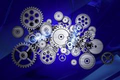抽象齿轮机器 免版税库存照片