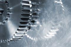 抽象齿轮机械 免版税库存照片