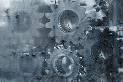 抽象齿轮机械 免版税图库摄影