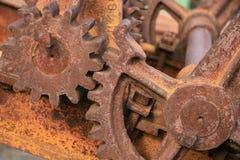 抽象齿轮生锈了 免版税库存照片
