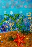抽象水下的海景 图库摄影