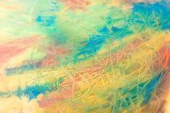 抽象绘画绘画与油漆刷的 库存照片