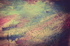 抽象绘画绘画与油漆刷的 免版税库存照片