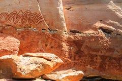 抽象绘画作为峭壁的人,泰国 免版税库存照片