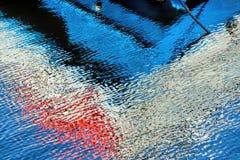 抽象水反射 免版税库存照片