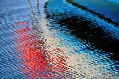 抽象水反射 图库摄影