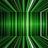 抽象黑和绿色翘曲的条纹背景 库存图片