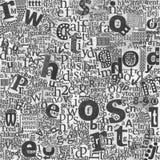 抽象派在报纸s上写字 免版税库存图片