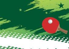 抽象水平的乒乓球横幅 红色网球拍 免版税图库摄影