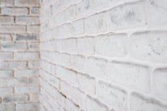 抽象水平的白色背景 砖墙的角落 库存照片