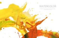 抽象水彩刷子冲程绘了背景 纹理pa 库存照片