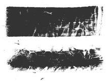 抽象水彩刷子,集合 免版税库存照片