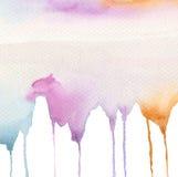 抽象水彩流程下来被绘的背景 免版税图库摄影