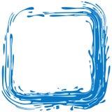 抽象水彩脏的边界向量框架 免版税库存图片
