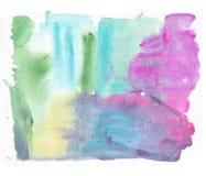 抽象水彩艺术现有量油漆 水彩纹理 树胶水彩画颜料污点,污点,斑点 库存图片