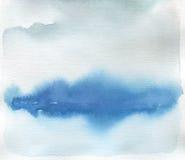 抽象水彩风景污点被绘的背景 纹理 库存例证