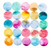 抽象水彩水彩画手拉五颜六色 库存照片
