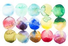 抽象水彩水彩画手拉五颜六色 库存图片