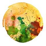 抽象水彩绘画污点 皇族释放例证