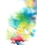 抽象水彩洗涤,刷色背景 免版税库存图片