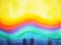 抽象水彩绘画颜色五颜六色的背景例证设计 免版税库存图片