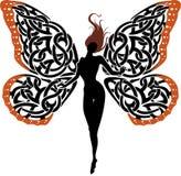 抽象幻想夫人Butterfly 免版税库存图片
