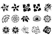 抽象幻想花设置了2 图库摄影